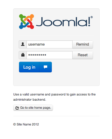 Joomla 3.0 Screenshot 1