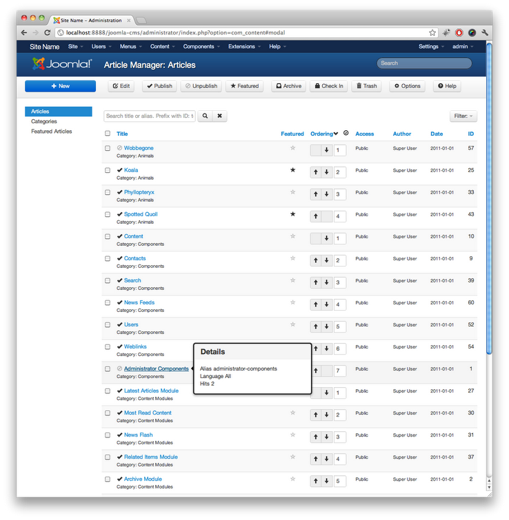 Joomla 3.0 Screenshot 2