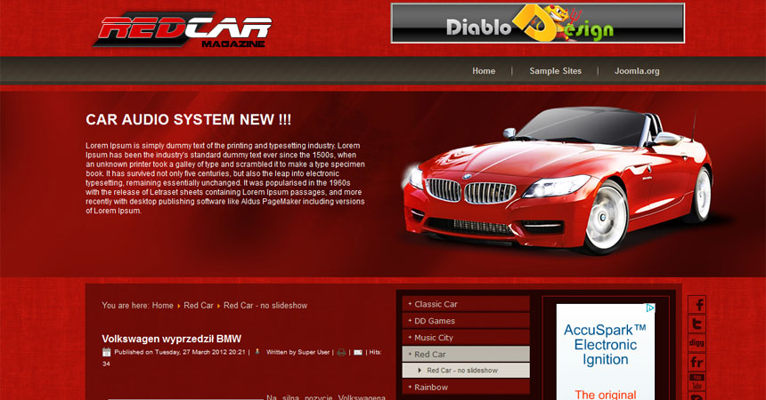 Lt salon car free joomla car dealer template.