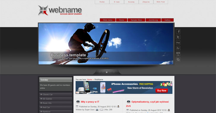 Free Joomla 30 template web name Free Joomla templates downloads