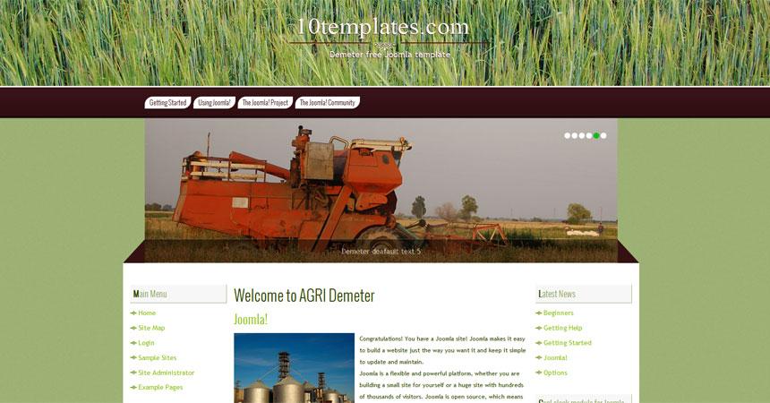free joomla agriculture template free demeter extended premium joomla 2 5 template free