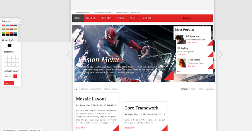 Joomla 2.5 game and magazine template - Free Joomla templates ...